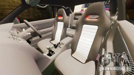 Nissan Skyline R33 1995 для GTA 4 вид изнутри