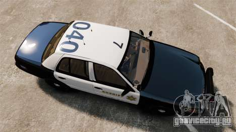 Ford Crown Victoria Sheriff [ELS] Slicktop для GTA 4 вид справа