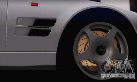 Aston Martin V8 Vantage V600 1998 для GTA San Andreas вид сзади