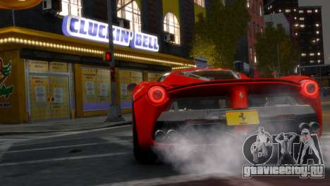 Ferrari LaFerrari WheelsandMore Edition для GTA 4 вид сзади слева