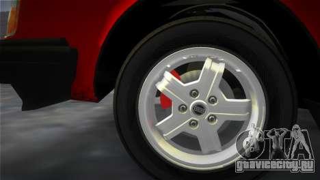 Volvo 242 Turbo Evolution для GTA Vice City вид изнутри