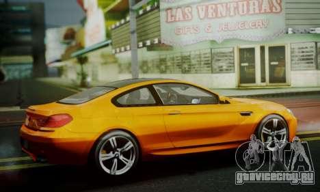 BMW M6 F13 2013 для GTA San Andreas вид изнутри