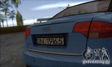 Audi S4 4.0 Quattro 2006 для GTA San Andreas вид сзади слева