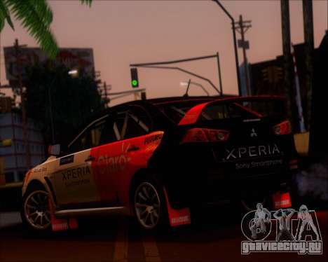 Mitsubushi Lancer Evolution Rally Team Claro для GTA San Andreas