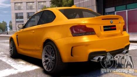 BMW 1M для GTA 4 вид слева