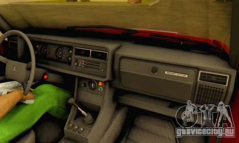 ВАЗ 2107 Stock для GTA San Andreas вид сверху