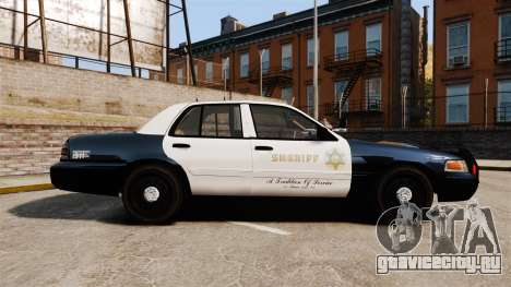 Ford Crown Victoria Sheriff [ELS] Slicktop для GTA 4 вид слева