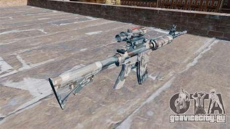 Автоматический карабин М4А1 Melted snow Camo для GTA 4 второй скриншот