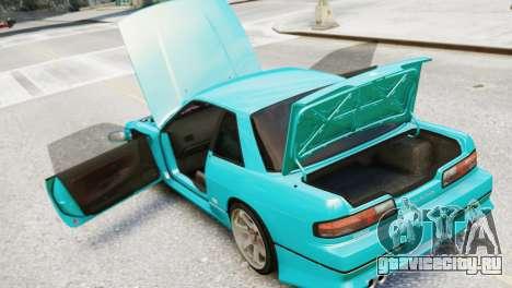 Nissan Silvia S13 v1.0 для GTA 4 вид сзади