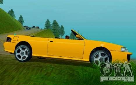 Sultan Сabriolet v2.0 для GTA San Andreas вид сзади слева