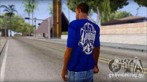 Lowrider Blue T-Shirt для GTA San Andreas второй скриншот