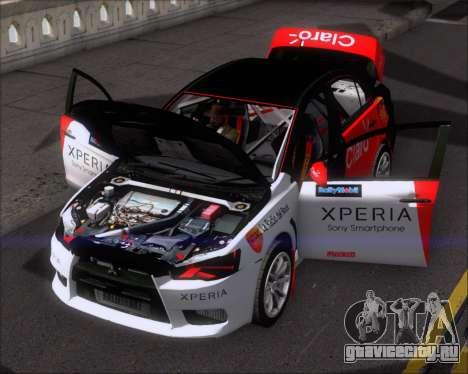 Mitsubushi Lancer Evolution Rally Team Claro для GTA San Andreas вид сверху