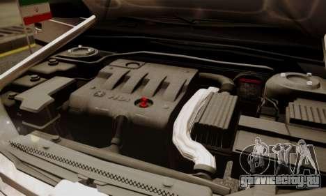Peugeot Pars Limouzine для GTA San Andreas вид снизу