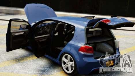 Volkswagen Golf R 2010 для GTA 4 вид сзади