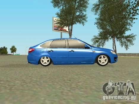 Lada Granta Liftback для GTA San Andreas вид снизу