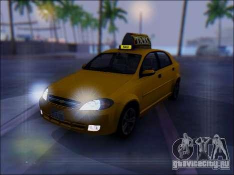 Chevrolet Lacetti Taxi для GTA San Andreas вид сверху