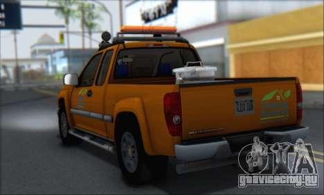 Chevrolet Colorado Cleaning для GTA San Andreas вид слева