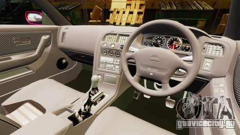 Nissan Skyline R33 1995 для GTA 4 вид сзади