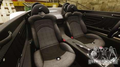 Pagani Zonda C12S Roadster 2001 v1.1 PJ4 для GTA 4 вид сбоку