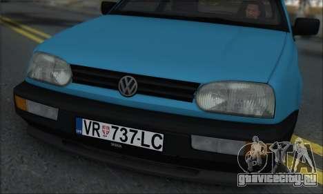 Volksvagen Golf Mk3 для GTA San Andreas вид сзади слева