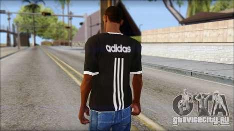 Adidas Black T-Shirt для GTA San Andreas второй скриншот
