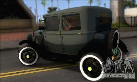 Ford T 1927 для GTA San Andreas вид сзади слева