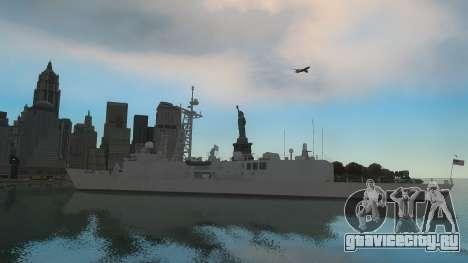 U.S. Navy frigate для GTA 4 вид сзади слева