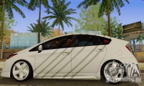 Toyota Prius Tunable для GTA San Andreas вид сзади слева