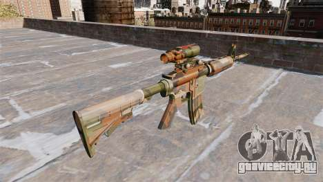 Автоматический карабин М4А1 Mercury Camo для GTA 4 второй скриншот