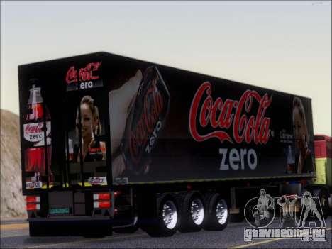 Прицеп Chereau Coca Cola Zero Truck для GTA San Andreas вид справа