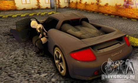 Porsche Carrera GT 2005 для GTA San Andreas вид сзади
