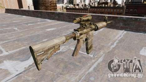 Автоматический карабин М4А1 Flora Camo для GTA 4 второй скриншот