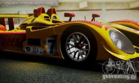 Porsche RS Spyder Evo 2008 для GTA San Andreas вид снизу