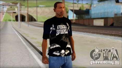 A7X Deathbats Fan T-Shirt Black для GTA San Andreas