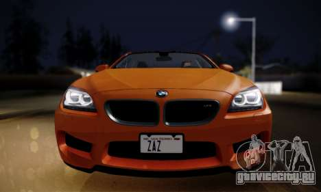 BMW M6 F13 2013 для GTA San Andreas вид сзади слева