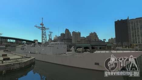 U.S. Navy frigate для GTA 4 вид слева