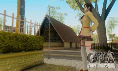 Kokoro wearing a school uniform (DOA5) для GTA San Andreas пятый скриншот
