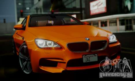 BMW M6 F13 2013 для GTA San Andreas вид снизу