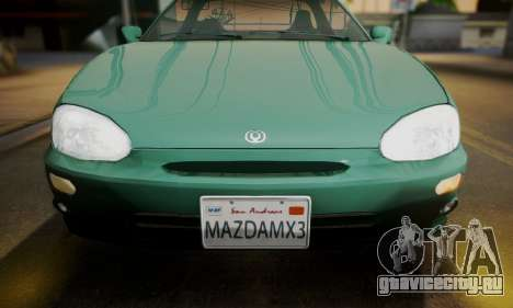 Mazda MX-3 для GTA San Andreas вид сзади слева