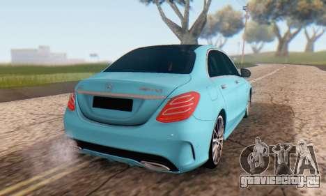 Mercedes-Benz C250 AMG для GTA San Andreas вид изнутри