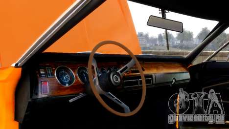 Dodge Charger RT 1970 для GTA 4 вид сзади