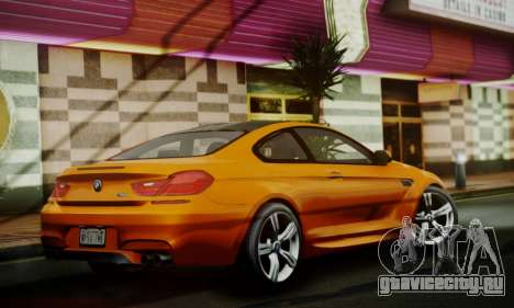 BMW M6 F13 2013 для GTA San Andreas вид сзади
