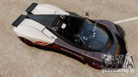 Pagani Zonda C12S Roadster 2001 v1.1 PJ4 для GTA 4 вид справа