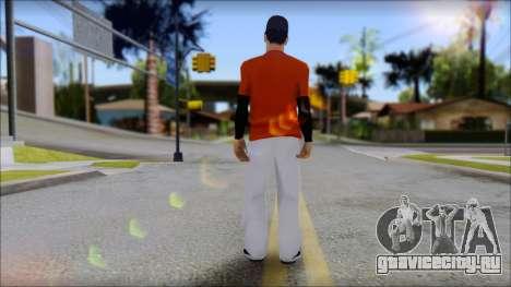 Polera Naranja con Gorro для GTA San Andreas второй скриншот
