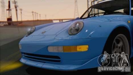 Porsche 911 GT2 (993) 1995 V1.0 SA Plate для GTA San Andreas вид изнутри