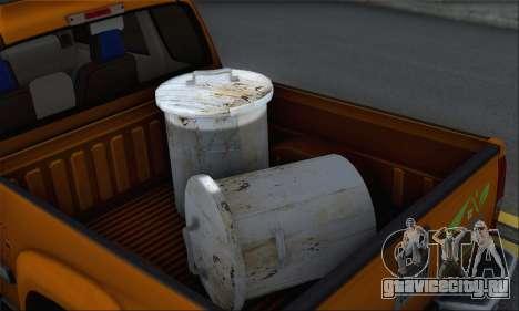 Chevrolet Colorado Cleaning для GTA San Andreas вид сзади