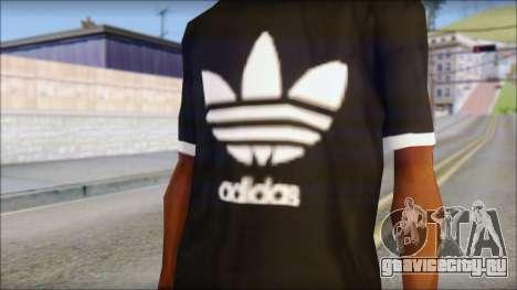 Adidas Black T-Shirt для GTA San Andreas третий скриншот