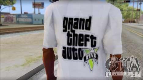 GTA 5 Fan T-Shirt для GTA San Andreas третий скриншот