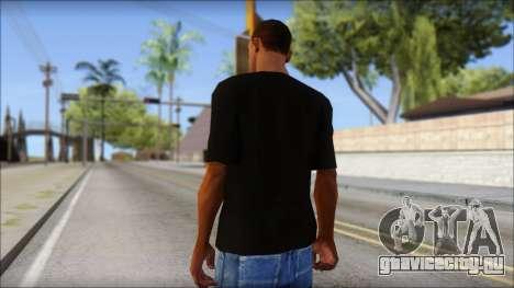 Black Izod Lacoste T-Shirt для GTA San Andreas второй скриншот