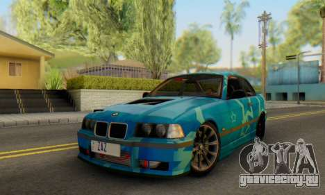 BMW M3 E36 Coupe Blue Star для GTA San Andreas